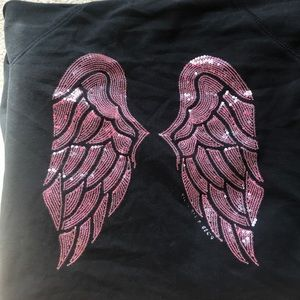 Victoria's Secret angel wings black zip up hoodie